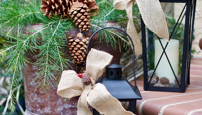 Decorating with Pinecones & Branches