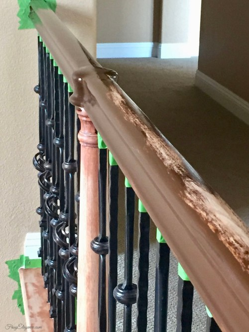 Do It Yourself Staircase Makeover by FrugElegance.com