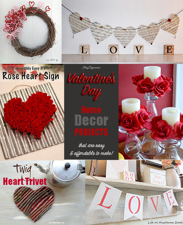 Here Are A Few Beautiful DIY Valentineu0027s Decor Ideas From Some Of Our Blog  Friends Plus 2 Of Our Most Popular Valentine Decor Projects.