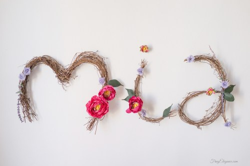 Easy Nursery Wall Art | www.FrugElegance.com