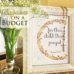 A Beautiful Baptism Celebration with Decor on a Budget