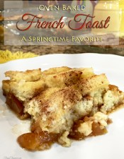 Oven Baked Peach French Toast
