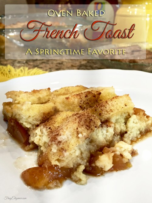 Oven Baked Peach French Toast at FrugElegance.com