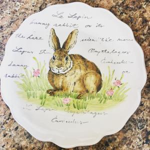 Another great hostess gift from HomeGoods! This bunny platter willhellip