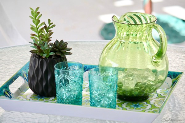 Easy Home Decor with Artificial Succulent Planters by FrugElegance.com