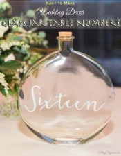 Wedding Decor Glass Jar Table Numbers