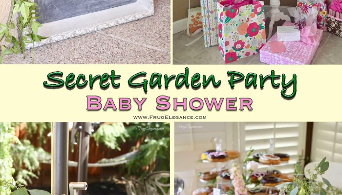 Secret Garden Baby Shower