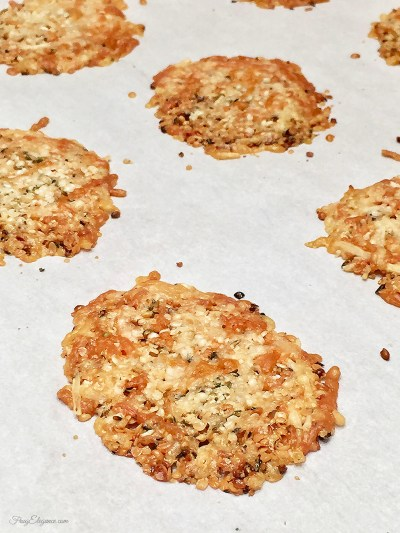 Super Easy to Make Low Carb Cheese Crisps by FrugElegance.com