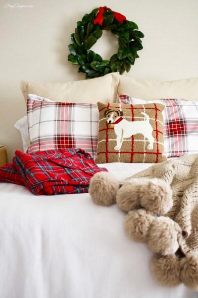 Cozy Christmas Guest Bedroom   FrugElegance   www.FrugElegance.com