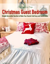 Cozy Christmas Guest Bedroom