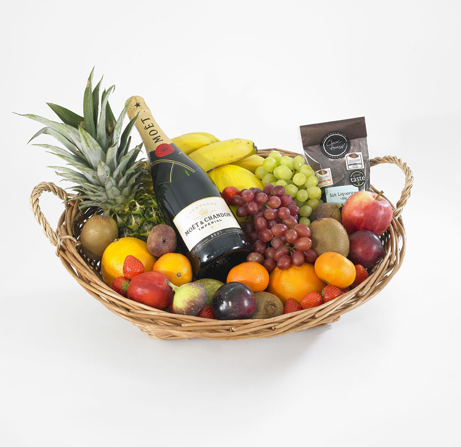 Gift Strawberries Champagne Basket And