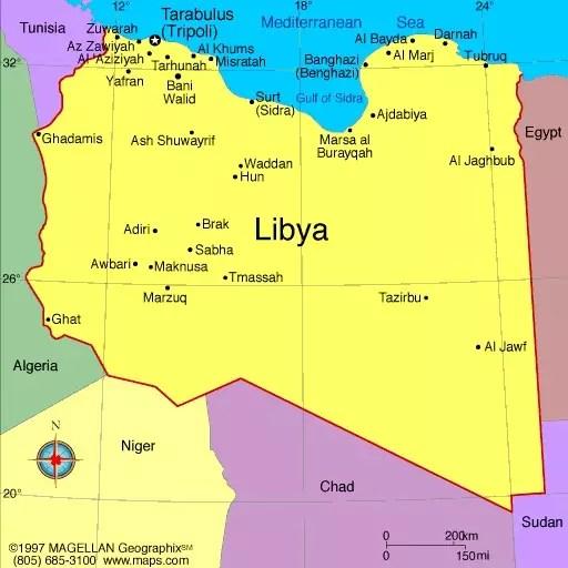 Libia mappa