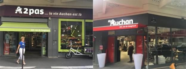 Il punto vendita di Rue Vaugirard, prima e dopo (fonte: Olivier Dauvers).