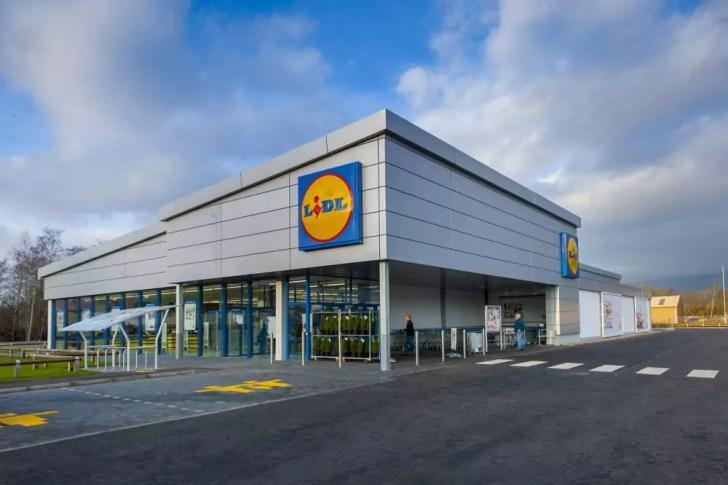 Uno dei nuovi punti vendita Lidl nel Regno Unito