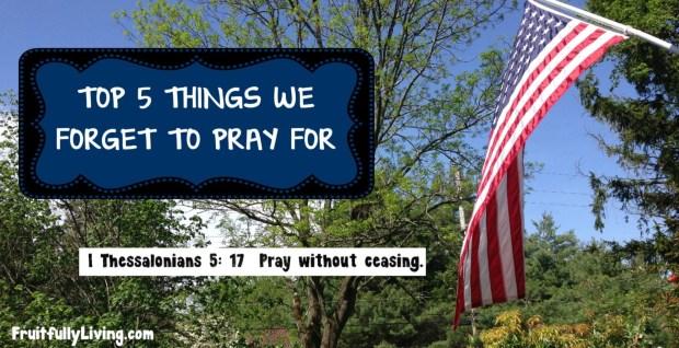 top 5 prayer