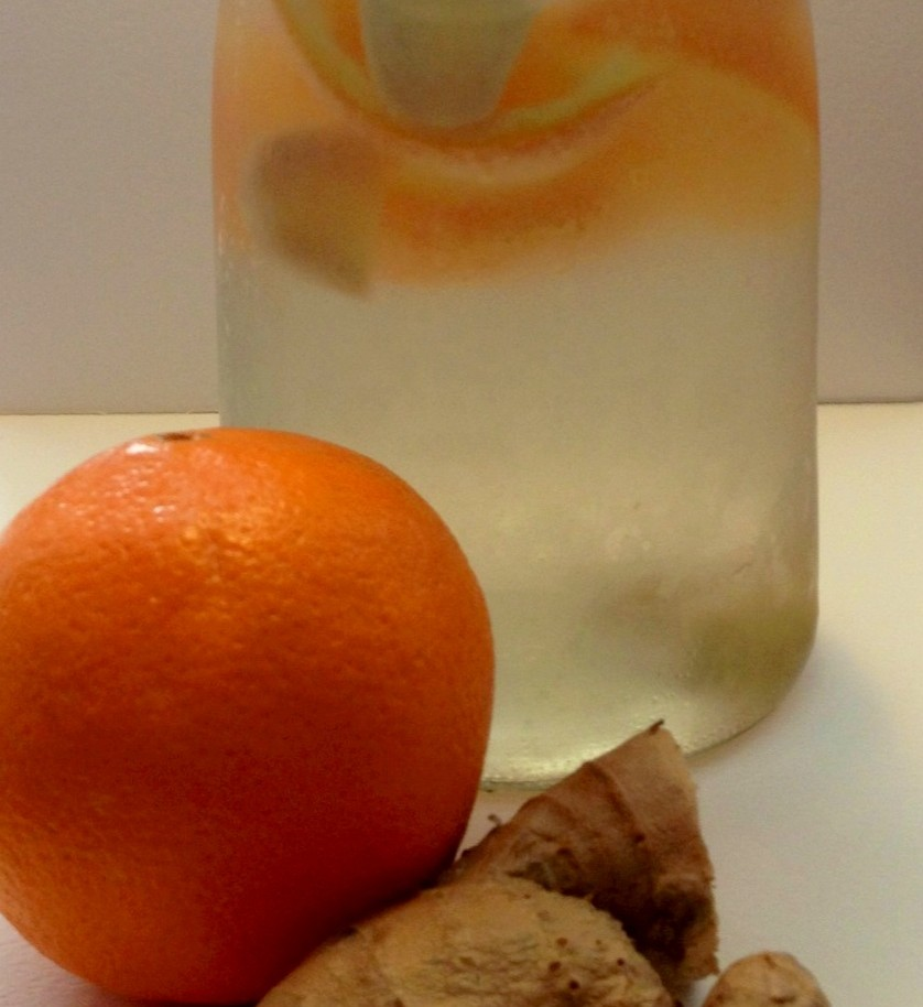 Ginger Orange Fruit Infused Water