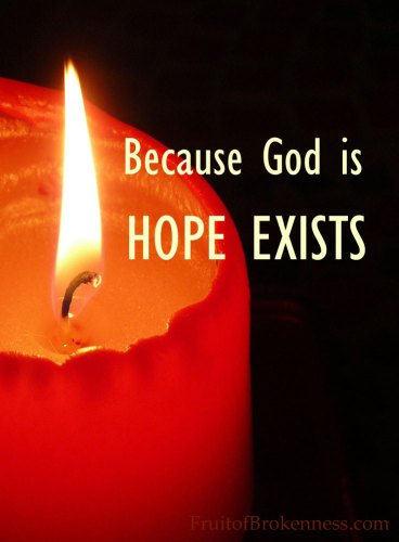 Because God is, HOPE EXISTS... Advent and depression