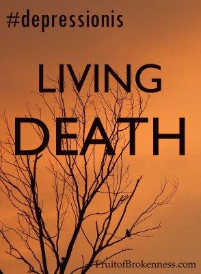 #depressionis... living death