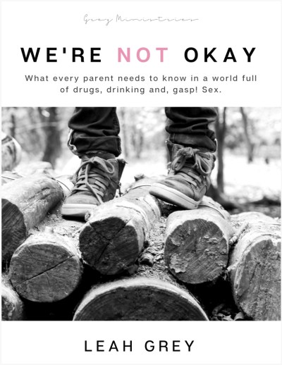 Check out my review of Leah Grey's We're Not Okay:Modern-Day Harm Reduction in Christian Parenting... What every parent needs to know in a world of drugs, drinking, and GASP! Sex