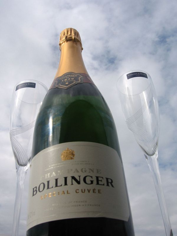 Bottle of Bollinger champagne