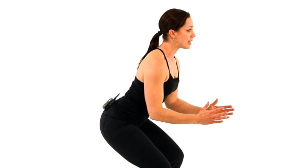 Picture of a woman squatting