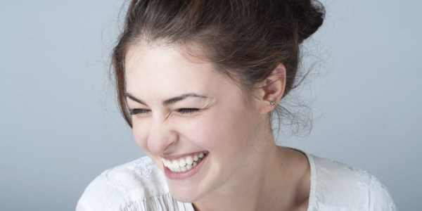Picture of a lady laughing
