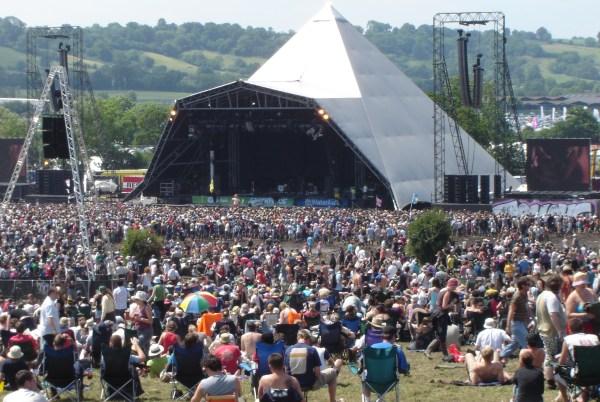 Picture of Glastonbury festival
