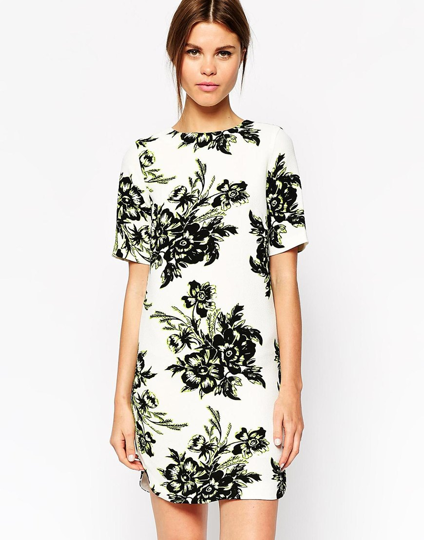 Warehouse floral t-shirt dress
