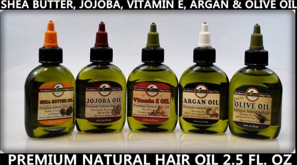 Picture of natural hair oils