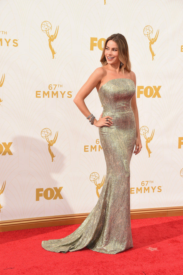 LOS ANGELES, CA - SEPTEMBER 20:  Actress Sofia Vergara attends the 67th Annual Primetime Emmy Awards at Microsoft Theater on September 20, 2015 in Los Angeles, California.  (Photo by Steve Granitz/WireImage)
