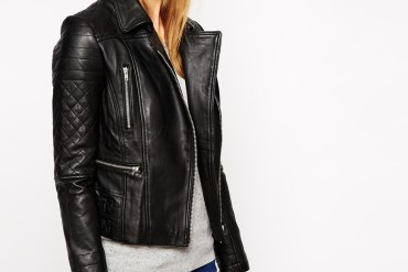 Warehouse leather biker jacket