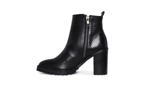 Whistles, block heel black ankle boots