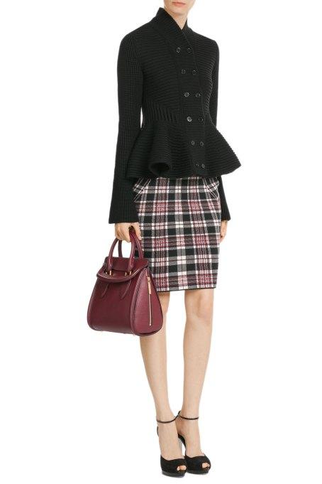 Alexander McQueen Checked Wool Skirt - £475