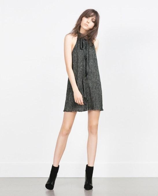Halter Neck Shimmer Dress