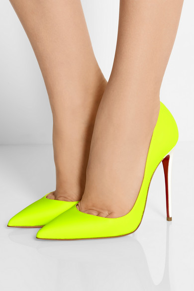 Christian Louboutin So Kate 120 Neon Leather Pumps - £445