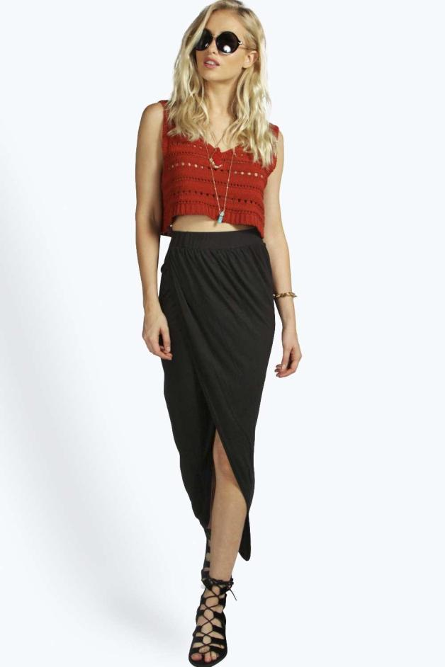 Boohoo milly front jersey dress