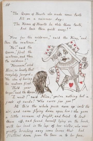 manuscript written by Lewis Carroll