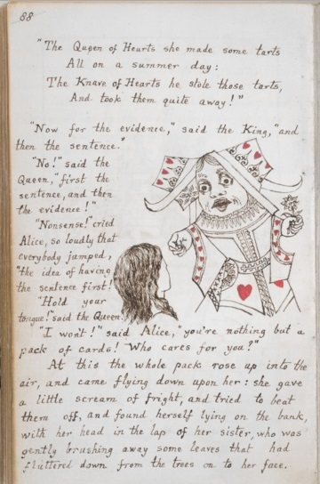 manuscript written by Lewis Carroll