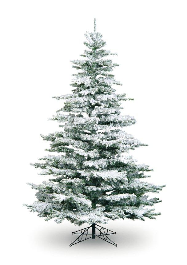 White flocked Christmas Tree