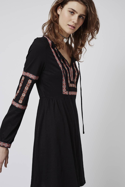 Embroidered smock dress, Toyshop