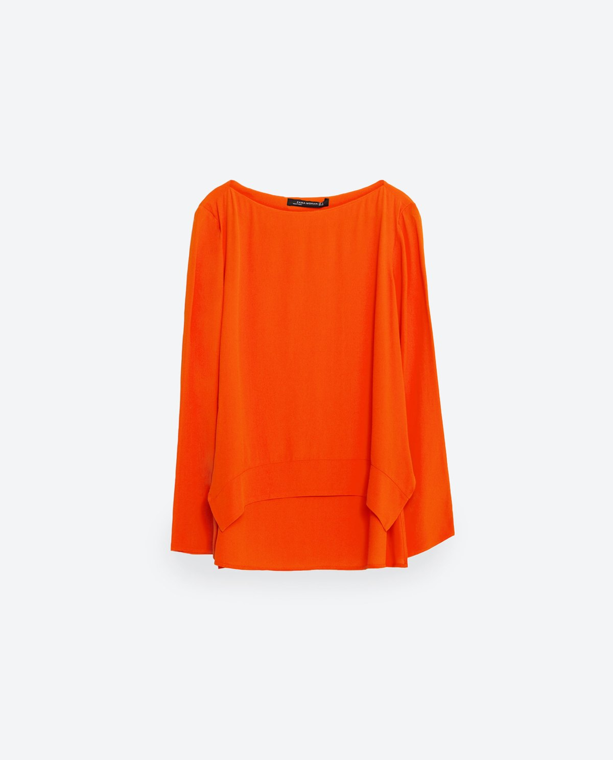 Orange boat neck blouse