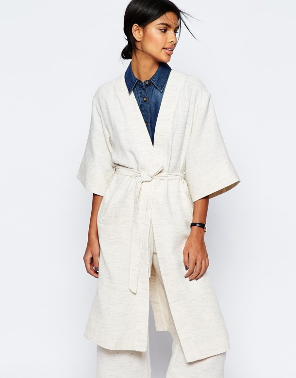 Asos white kimono