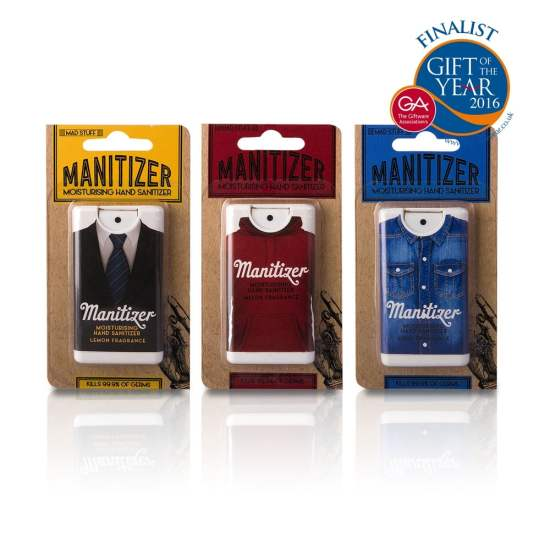 Mad Beauty men's collection hand sanitisers