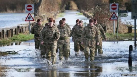 Army helping flood