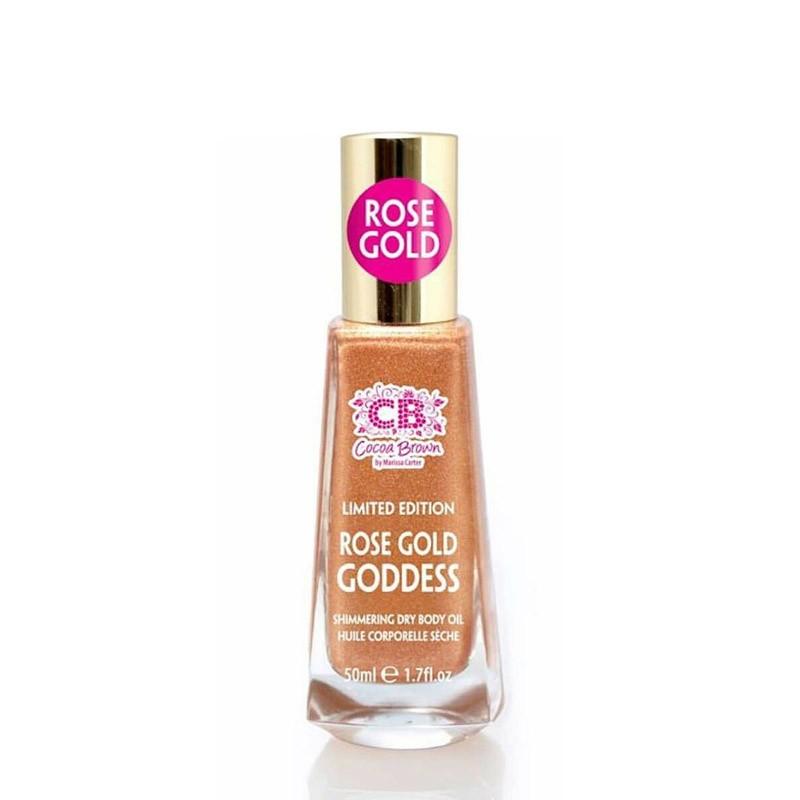 Cocoa Brown Rose gold goddess shimmer dry oil