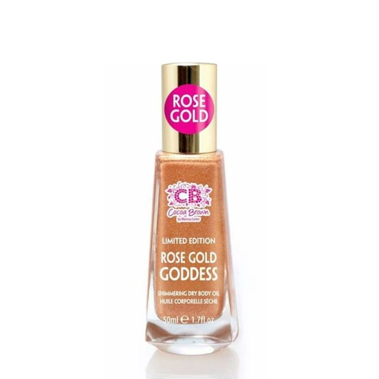 Cocoa Brown Rose gold goddess shimmer dry oil