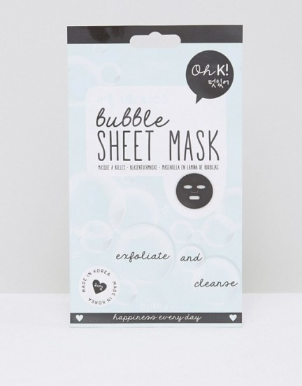 oh k bubble mask
