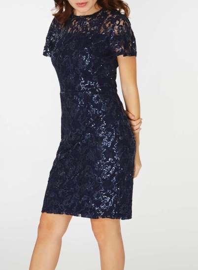 Dorothy perkins pencil sequin dress