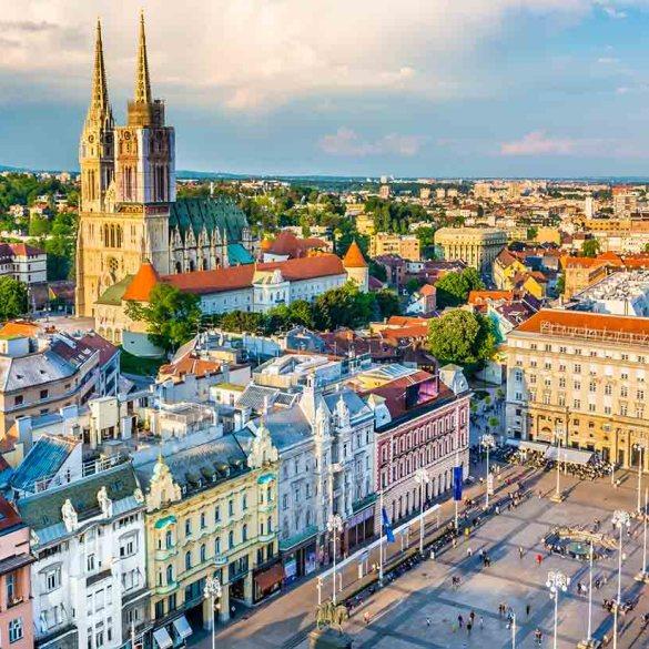 Vacation Travel Croatia, Zagreb, Europe.