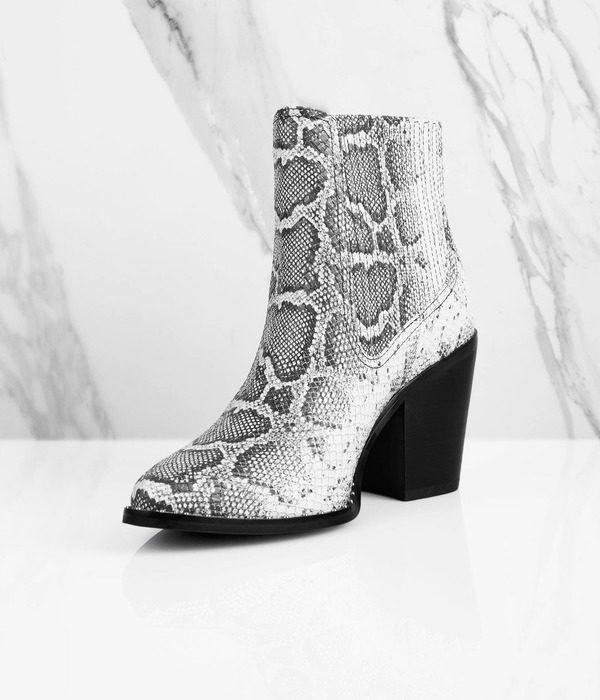 Tobi snakeskin boots concert fashion